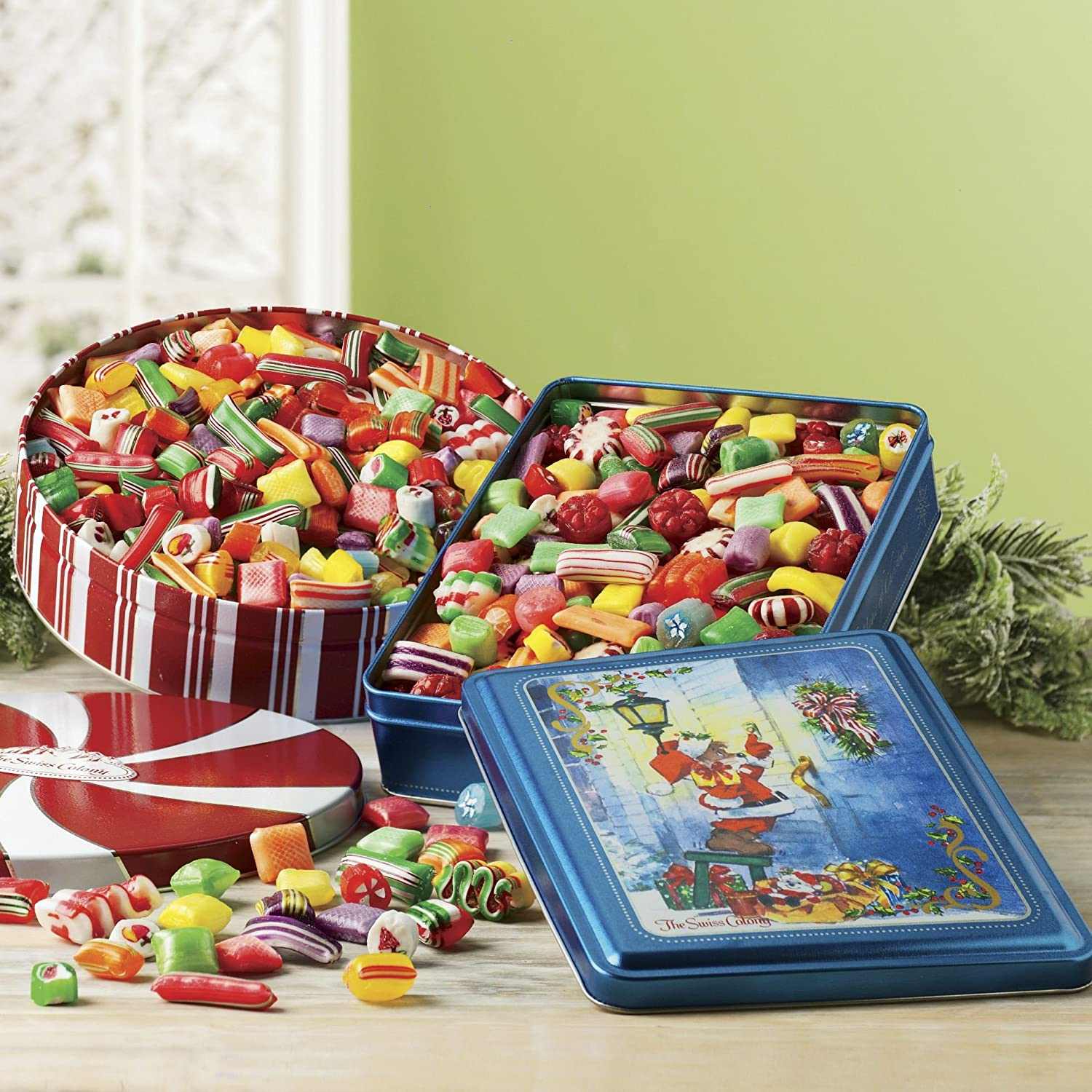Amazon.com : 2-lbs. net wt. Old-fashioned Christmas Candy from The ...