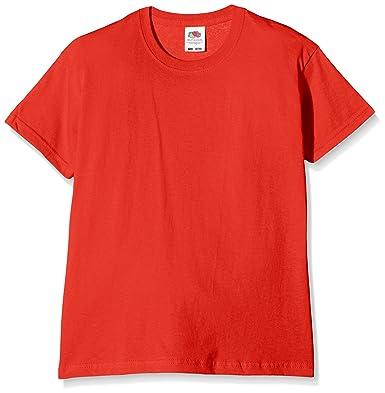 b136c458 Fruit of the Loom Unisex Kids Original T. T-Shirt, Red, 12-13 Years  (Manufacturer Size:34): Amazon.co.uk: Clothing
