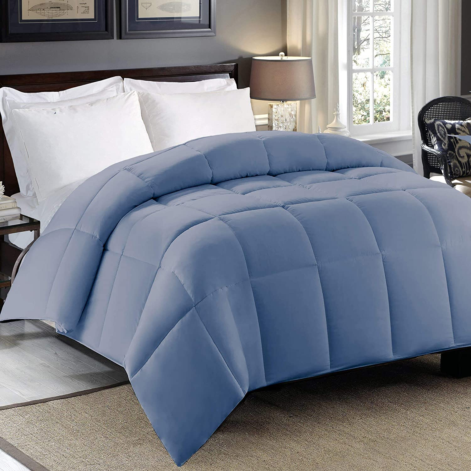 Blue Ridge Home Fashions 300 Thread Count Cotton Sateen Full-Queen in Riverside Color Down Alternative COMFORTERS