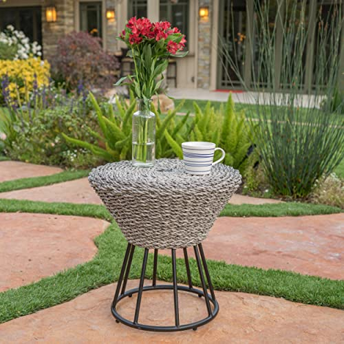 Christopher Knight Home Crete Outdoor Wicker Side Table