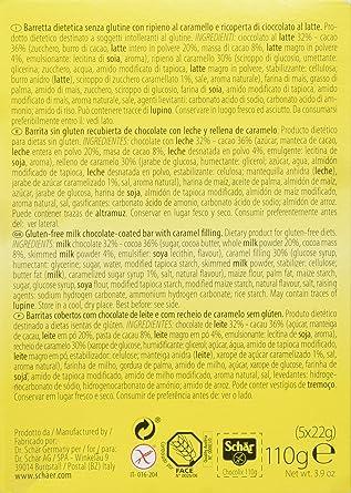 Dr. Schar Barritas de Chocolate - 5 Barritas: Amazon.es: Alimentación y bebidas
