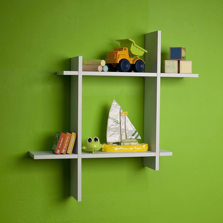 amazoncom danya b ffw laminate square floating wall shelf  - amazoncom danya b ffw laminate square floating wall shelf whitehome  kitchen