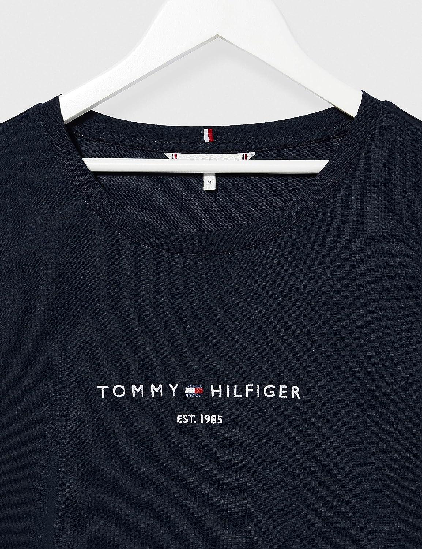 Tommy Hilfiger TH Ess Hilfiger Reg C-nk Drs SS Vestito Donna