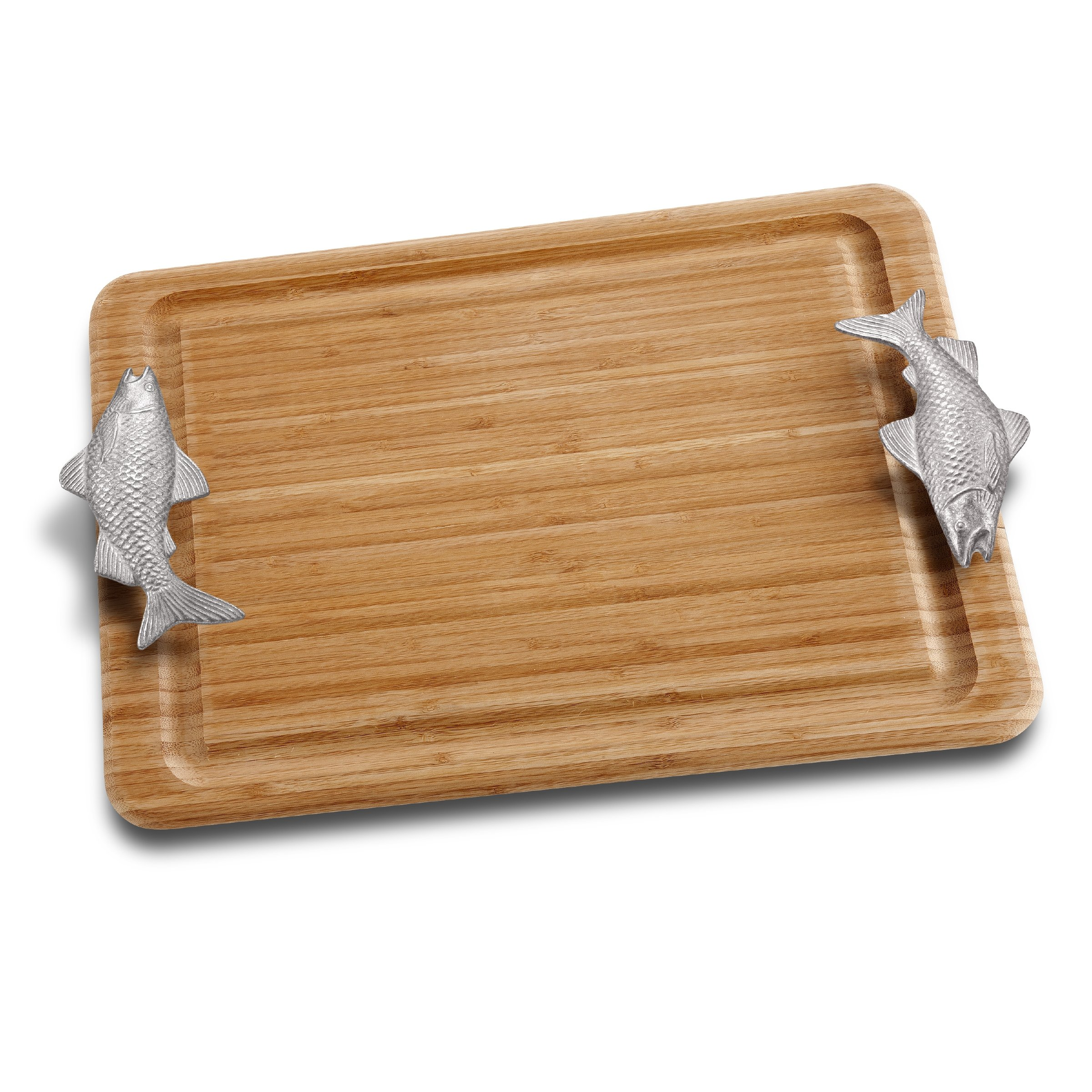 Wilton Armetale Large Carving Board with Fish Handles