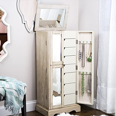 Modern Closet Storage Jewelry Armoire Shelves Cabinet Shoe Organizer Space Saver Shelving Unit With Drawers Patio