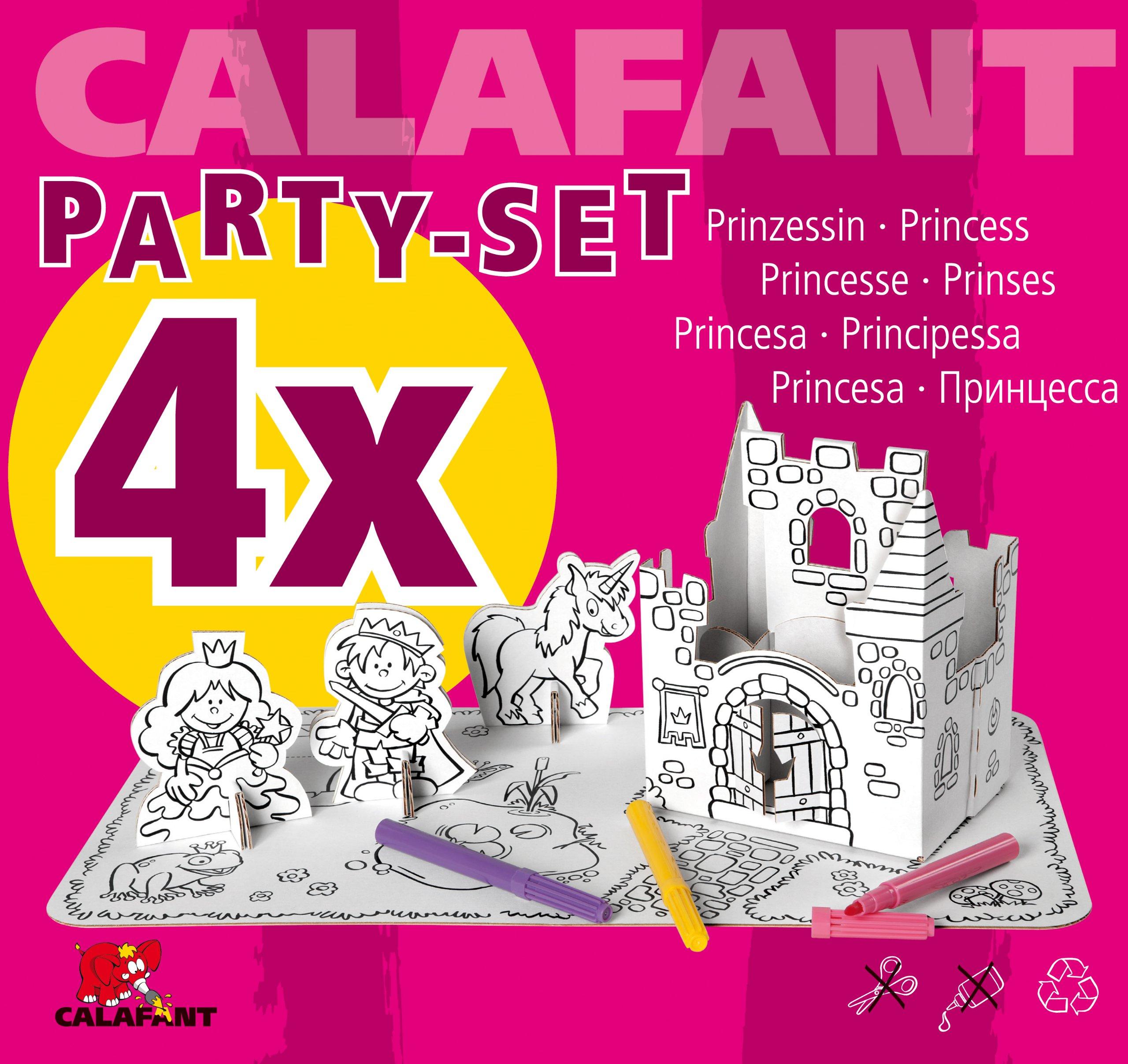 Calafant USA Party Set Princess for 4