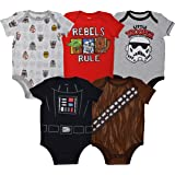 Star Wars Baby Boys 5 Pack Bodysuits