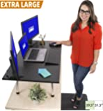 "Stand Steady Mega Standing Desk - Stand Up Desk Topper - Instantly Convert Any Surface to a Standing Desk - Easy Assembly No Tools Required! Largest Desk Converter (39.5"" x 22"") (MSRP: $245)"