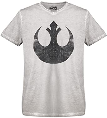 8ca55e859 GOZOO Star Wars T-Shirt Men Vintage Rebel Alliance Oil Dye 100% Cotton Grey  XL: Amazon.co.uk: Clothing