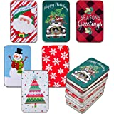 6 Pack Christmas Card Tin Holders Box Set by Gift Boutique