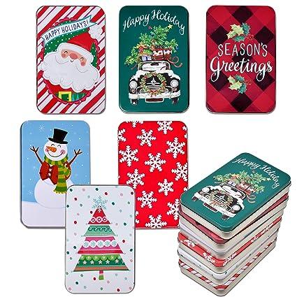 Amazon.com: Gift Boutique paquete de 6 latas de Navidad ...
