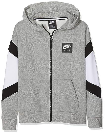 Baby B Grey Heatherwhite Nk Air SportsGrigiodk Hoodie Fz Nike N0w8vmOn