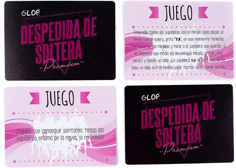 Glop Juego para Beber Despedida de Soltera Juego con silbatos, Globos, Pelota, Carteles con Nombre y Recuerdos.: Amazon.es: Juguetes y juegos