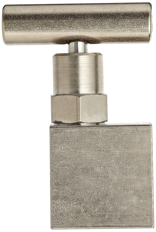 1//2 NPT Male 10000 psi Pressure Range NOSHOK 100 Series 316 Stainless Steel Hard Seat Mini Needle Valve with Swivel Adapter