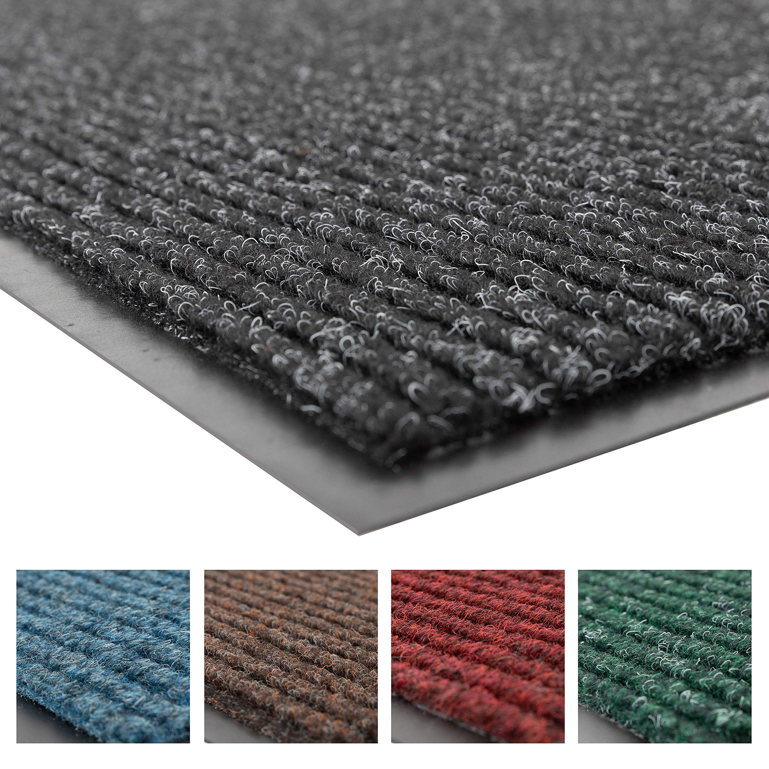 Notrax 109 Brush Step Entrance Mat, for Home or Office, 4' X 6' Charcoal by NoTrax Floor Matting