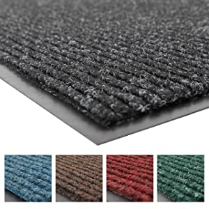 Notrax 109 Brush Step Entrance Mat, for Home or Office, 4' X 6' Charcoal