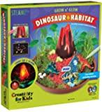 Creativity for Kids Grow N' Glow Dinosaur Habitat – Create Your Own Dino Garden Kit - Arts and Crafts for Boys and Girls