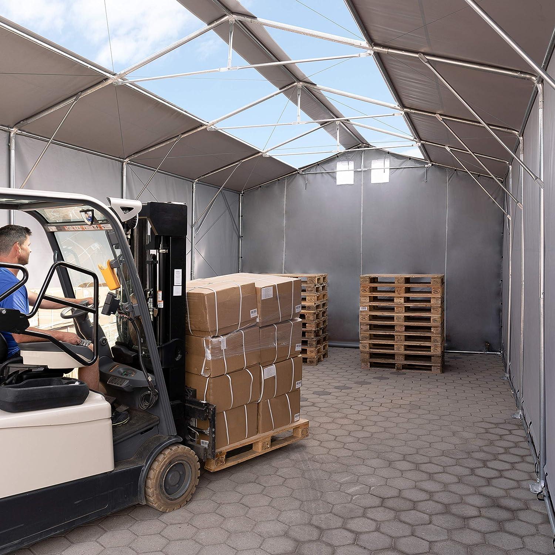 TOOLPORT Tienda de campaña con Puerta corredera – 550 g/m2 Continuo o 720 g/m2 Lona de PVC – Resistente al Agua con iluminación: Amazon.es: Jardín