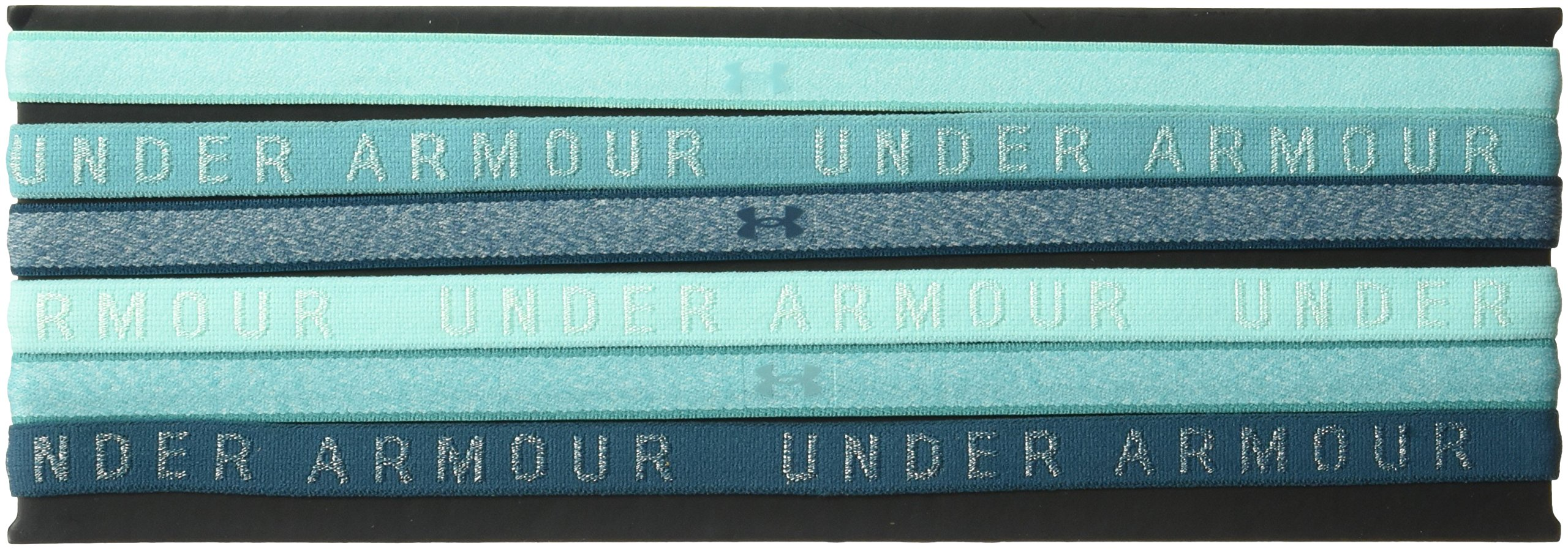 Under Armour Women's Heathered Mini Headbands - 6 Pack, Tropical Tide (425)/Tropical Tide, One Size