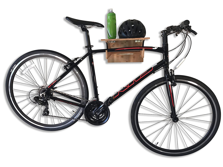 Soporte de Pared para Bicicleta de bambú