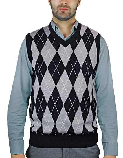 1798675e8 Blue Ocean Argyle Jacquard Sweater Vest at Amazon Men s Clothing store