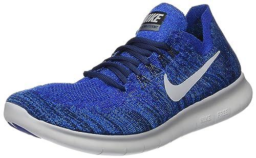 premium selection 0b0f7 d5187 Nike Free RN Flyknit 2017 Scarpe Running Uomo, Blu (Deep Royal Photo Blue