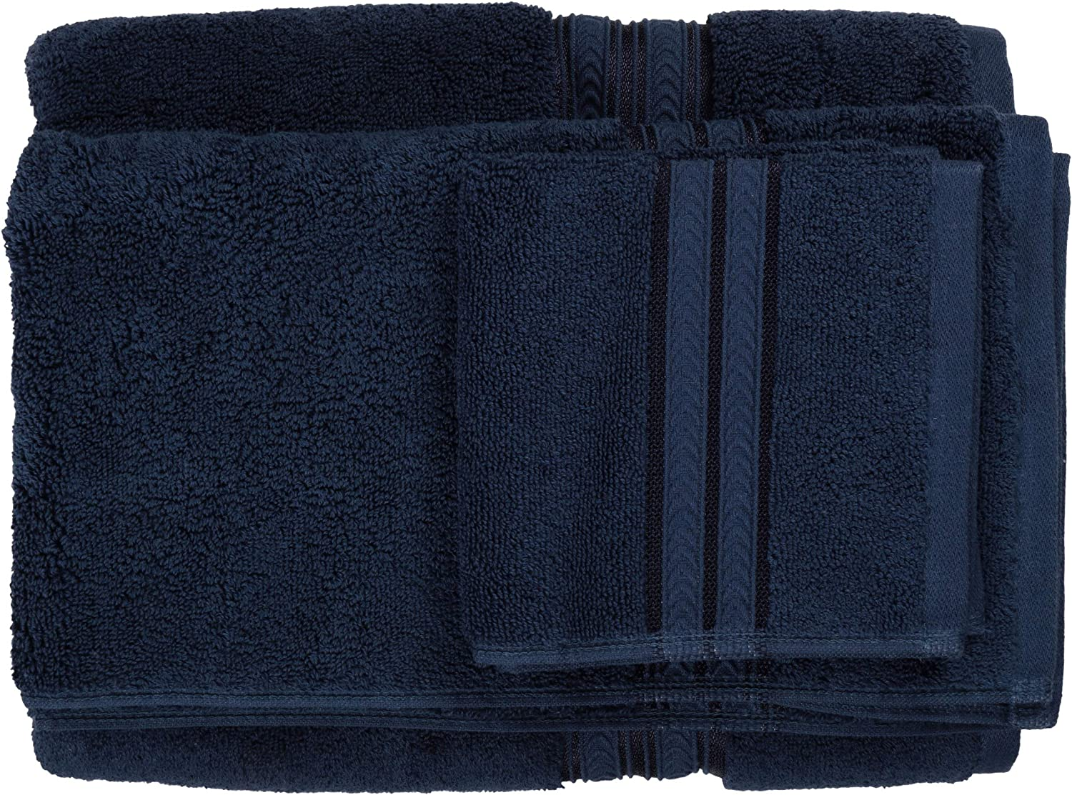 Blue Admiral Better Homes and Gardens Thick and Plush Bath Towel Collection 6 Piece Bath Towel