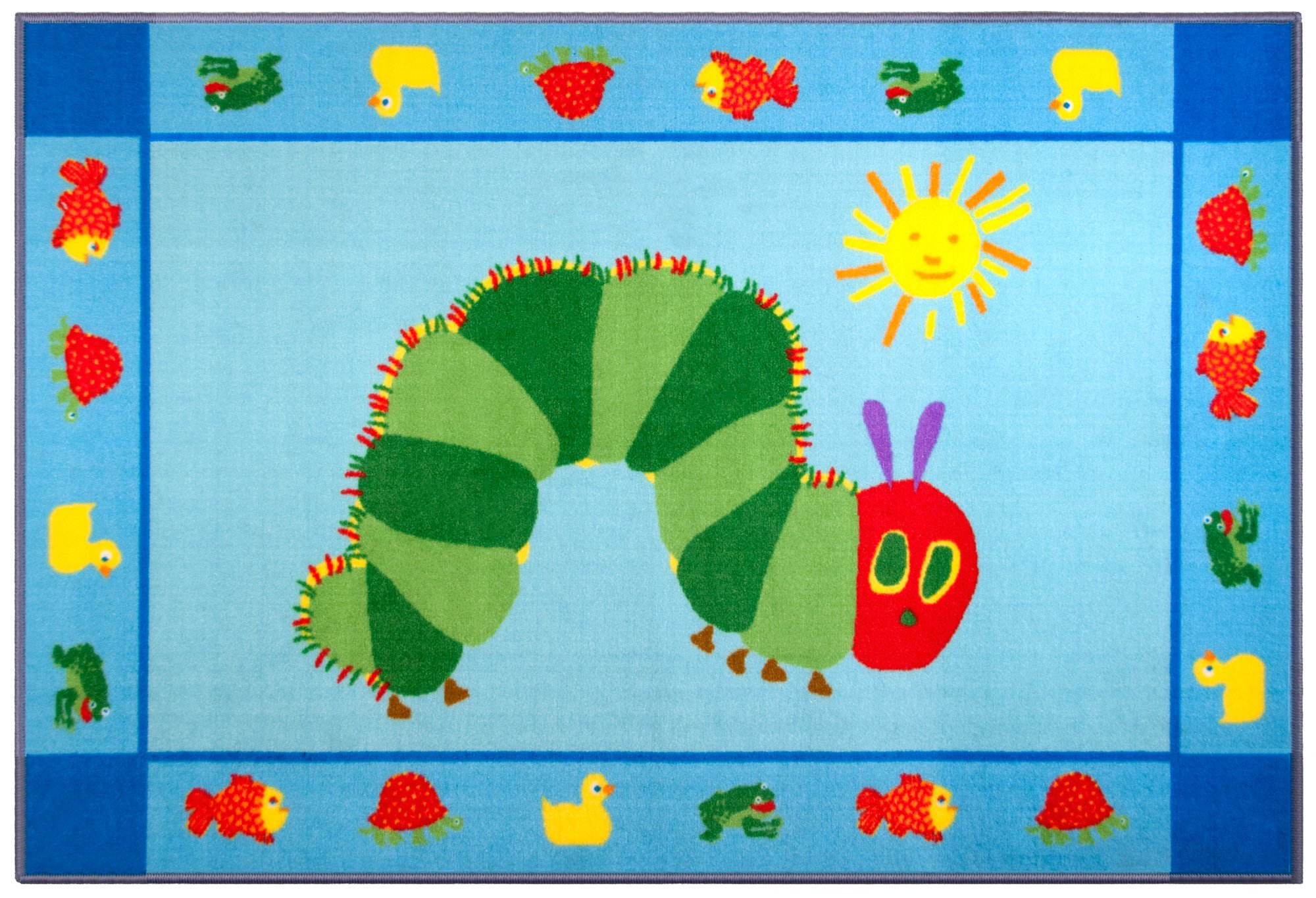 Play Rug, Wildkin Children's 39 x 58 Inch Rug, Durable, Vibrant Colors That Will Last, Perfect for Nurseries, Playrooms, and Classrooms, Ages 3+ – The Very Hungry Caterpillar