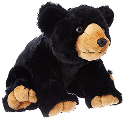 Wild Republic Black Bear Plush, Stuffed Animal, Plush Toy, Gifts Kids, Cuddlekins