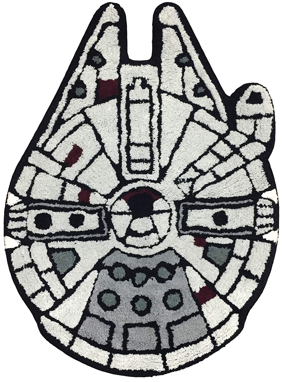 Jay Franco Star Wars Millennium Falcon Vs. Death Star - Kids Super Soft Cotton Tufted Bath Rug Jay Franco & Sons