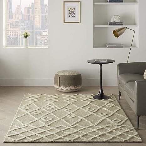 Amazon Com Nourison Moroccan Court Abstract Natural Grey 5 X 7 Area Rug 5 X 7 Furniture Decor