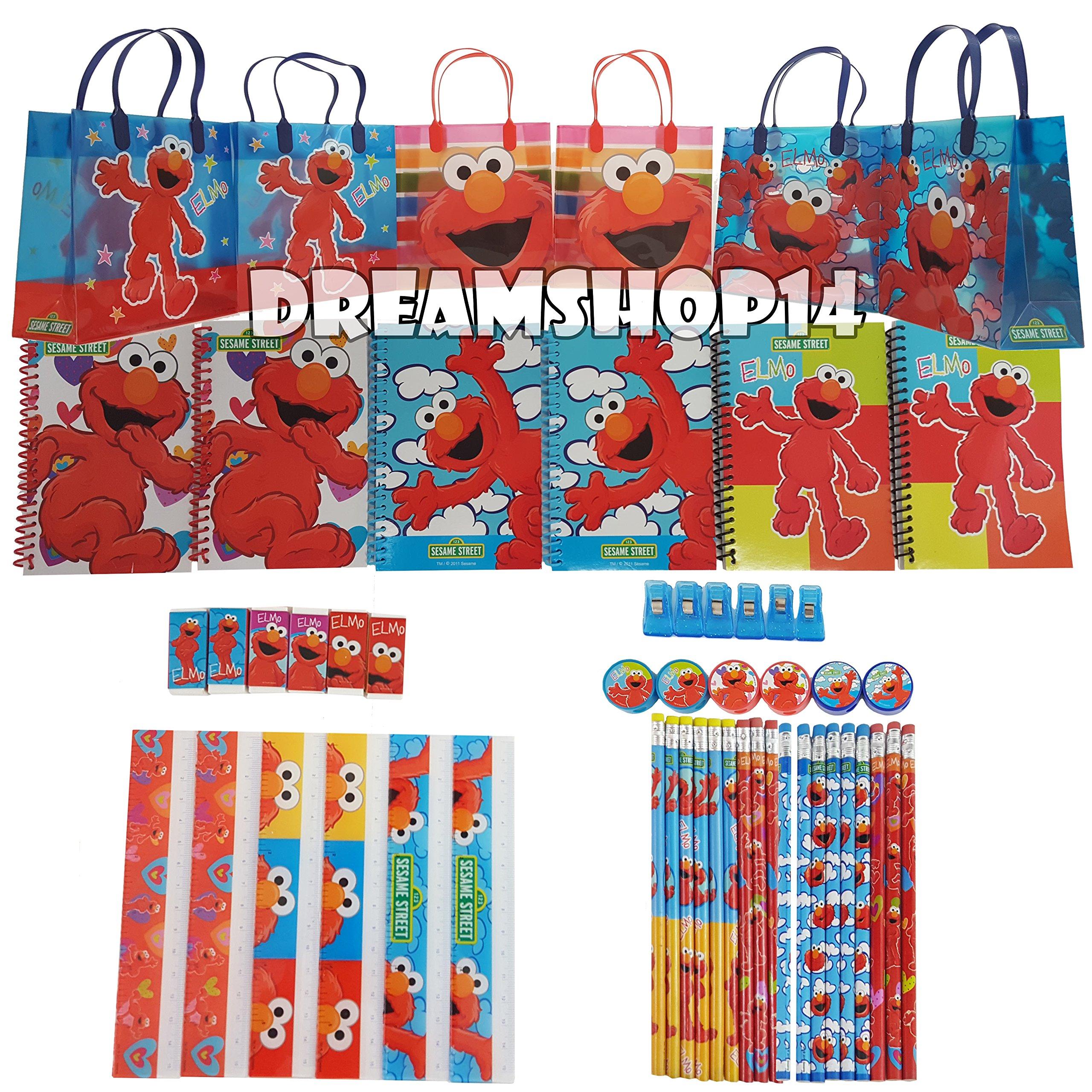 Sesame Street Elmo Party Favor Stationery Set - 6 Pack (54 Pcs) Medium Sized Bag by Dreamshop14