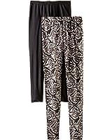 Steve Madden Legwear Women's Snake-Inspired Pattern and Solid Leggings (2-Pack)