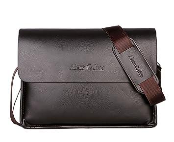 Image Unavailable. Image not available for. Color  Alena Culian Men  Shoulder Bag Messenger Handbag Crossbody ... d4a9484a7dfc6