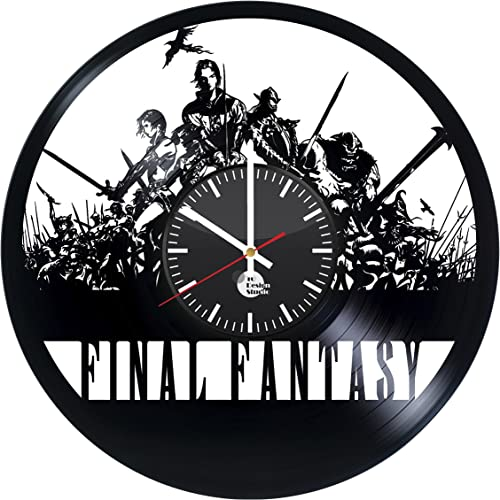 Final Fantasy Science Fiction Game Handmade Vinyl Record Wall Clock Fun gift Vintage Unique Home decor…