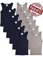 Andrew Scott Basics Boys 12 Pack Color A - Shirt Tank Top Undershirts