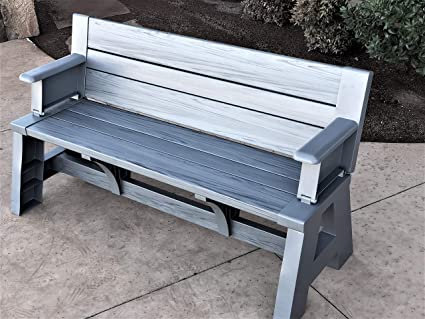 Pleasing Premiere Products 5Rcatpg Convert A Bench Platinum Gray Evergreenethics Interior Chair Design Evergreenethicsorg