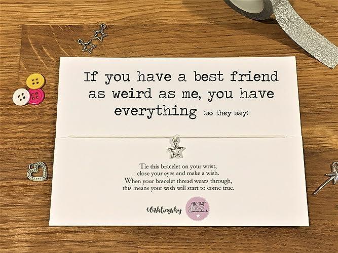source wish bracelet personalised friendship bracelet gift for her best