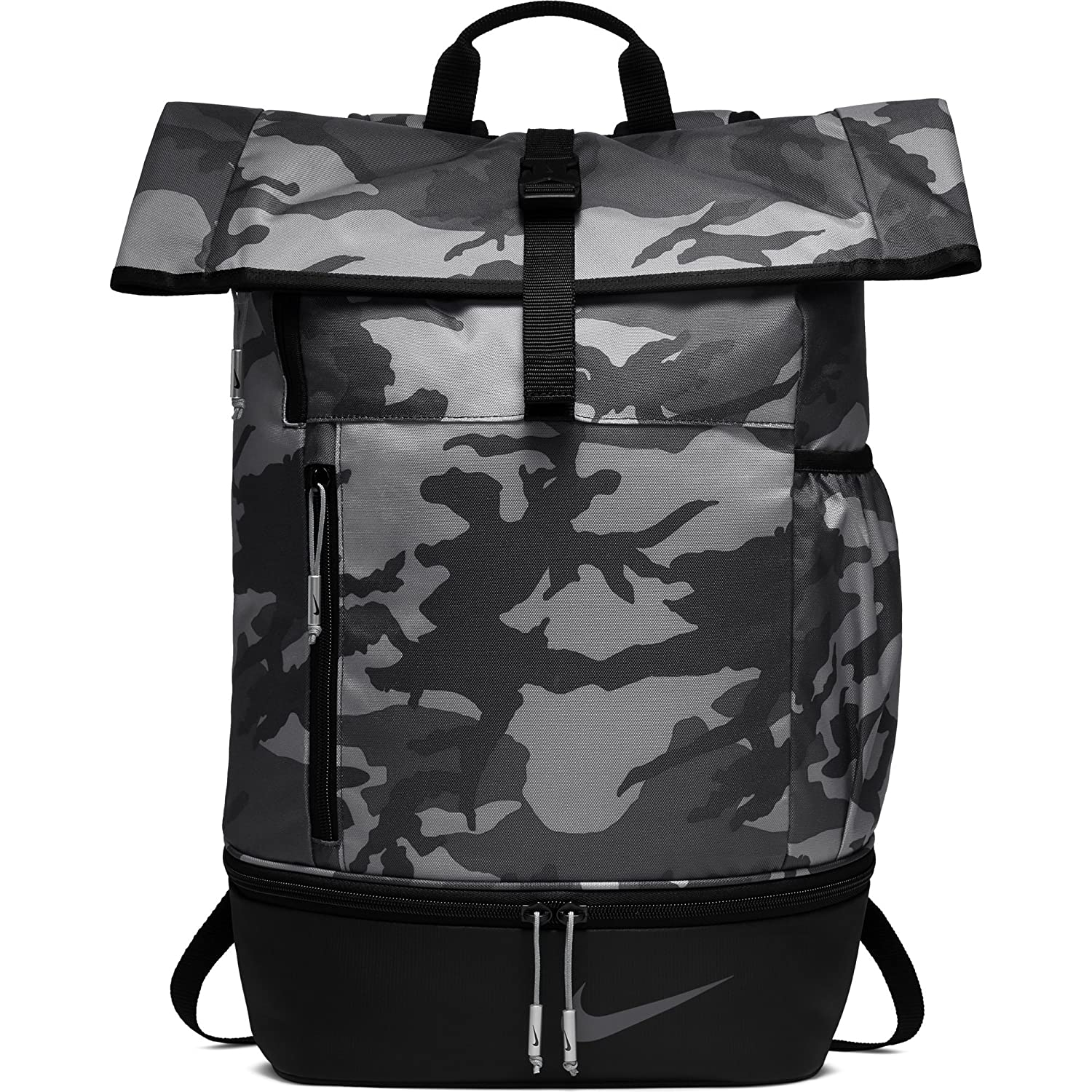 8fd3715dd9173 Amazon.com : NIKE Sport All Over Print Golf Backpack,  Anthracite/Black/Anthracite : Clothing