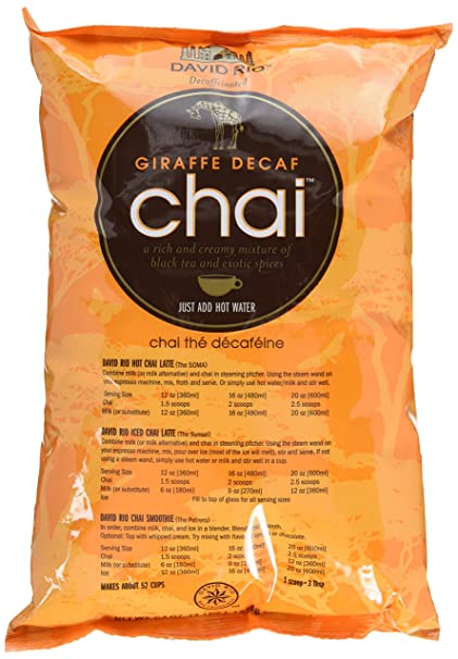 Amazon.com : David Rio Giraffe Decaf Chai, 4 Pound : Grocery & Gourmet Food