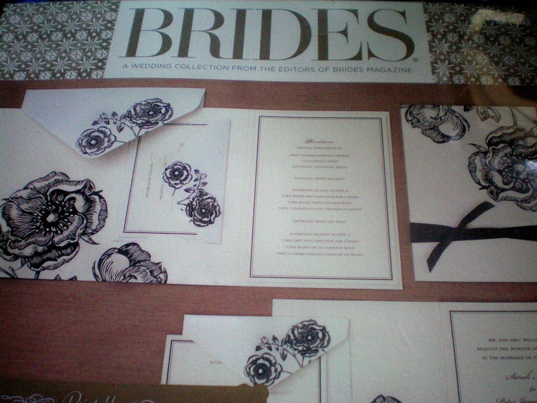 Brides Magazine wedding Invitation kit
