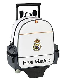 Real Madrid Mochila de guardería con ruedas, diseño