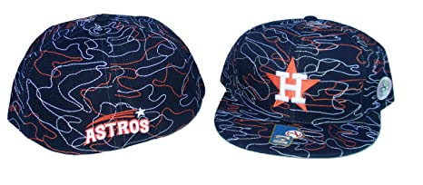 ae6f01e2693 Image Unavailable. Image not available for. Color  Houston Astros STRINGS  Fitted Hat Cap Size 8 - Team Colors