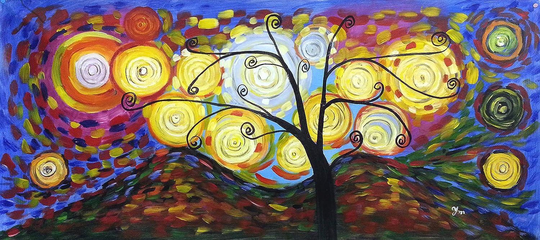 Klimt Tree of Life - Large Panorama - Large Fine Art oil on canvas ...