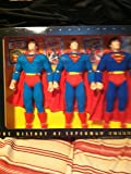 THE HISTORY OF SUPERMAN COLLECTION Three 12 INCH FIGURES