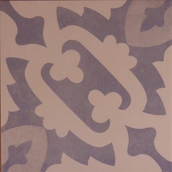 Zementoptik Bodenfliesen Dekor Hellblau Creme Glas 22 3x22 3x1 0cm