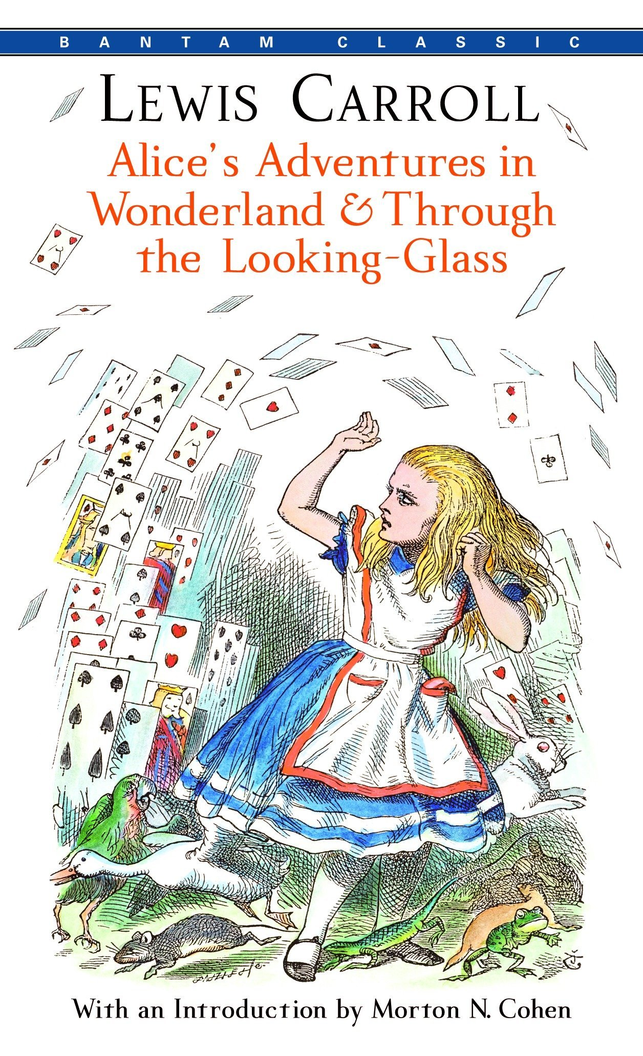 Alices adventures in wonderland through the looking glass bantam classics lewis carroll 9780553213454 amazon com books