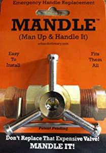 "Universal Plumbing Repair Handle- Emergency Valve Handle Replacement-One Handle FITS ALL VALVES!""THE MANDLE"""