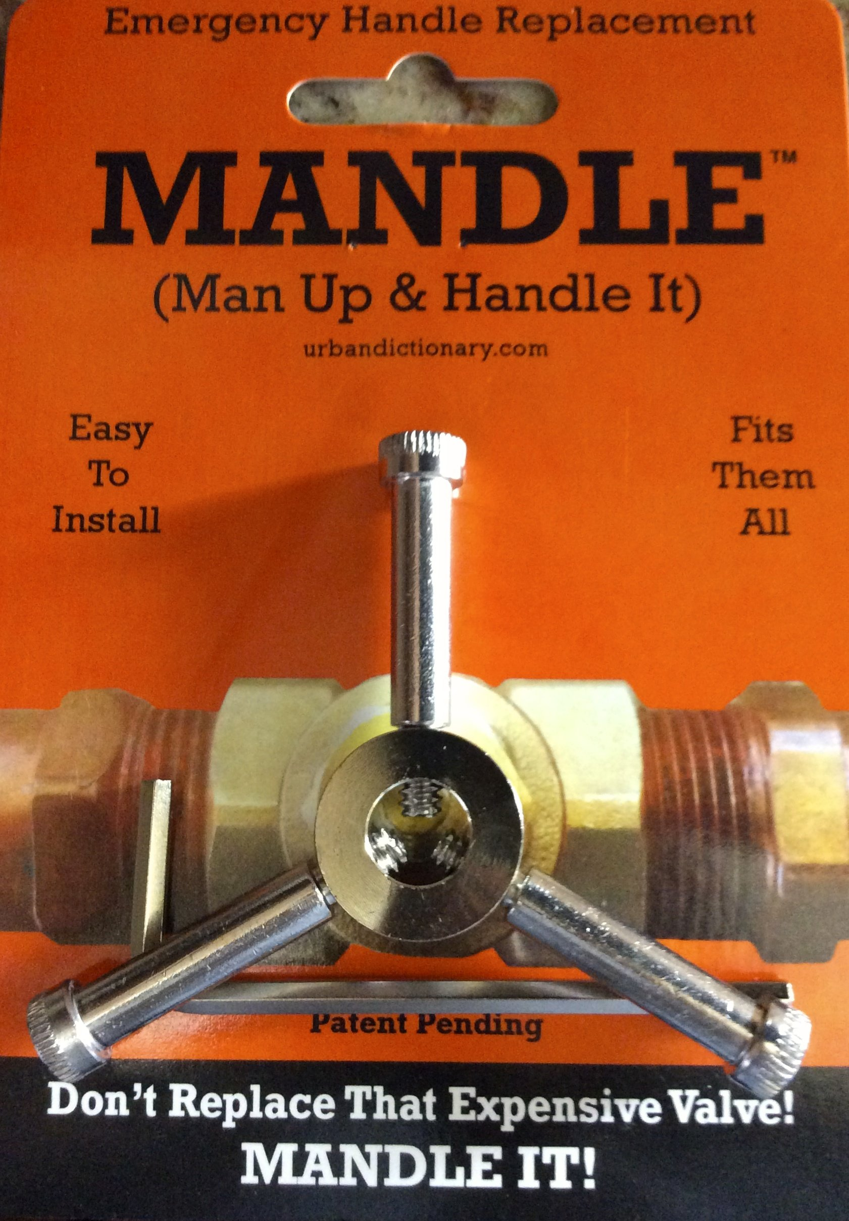 Universal Plumbing Repair Handle- Emergency Valve Handle Replacement-One Handle FITS ALL VALVES!''THE MANDLE''