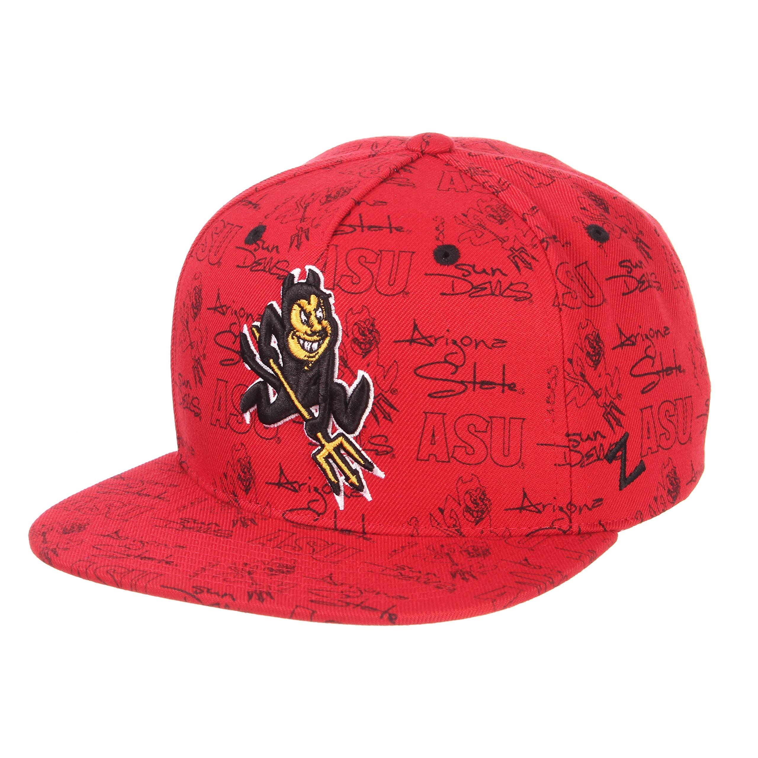 049616ed9dffe ZHATS NCAA Arizona State Sun Devils Men s Manic Snapback Hat ...